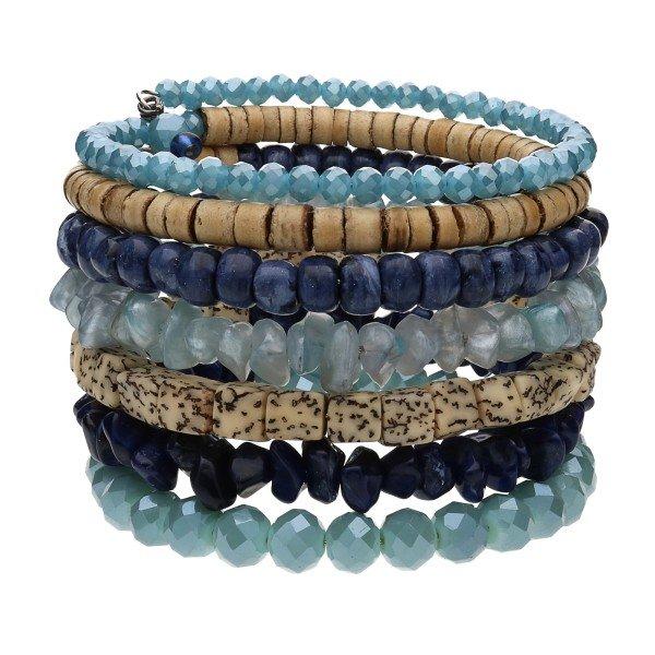 "Armband ""Lima"" - blau/braun"